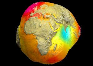 สนามโน้มถ่วงโลกแต่ละบริเวณมีค่าไม่เท่ากัน