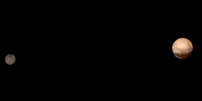ชมภาพคู่ของดาวพลูโตและชารอน Pluto and Charon 1