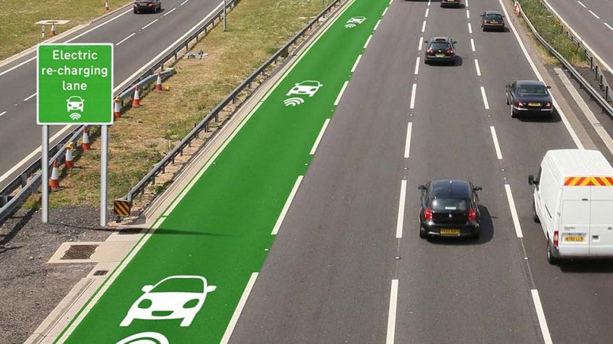 ถนนชาร์จไฟฟ้ารถยนต์ได้ อังกฤษ 1 ข่าวเทคโนโลยี