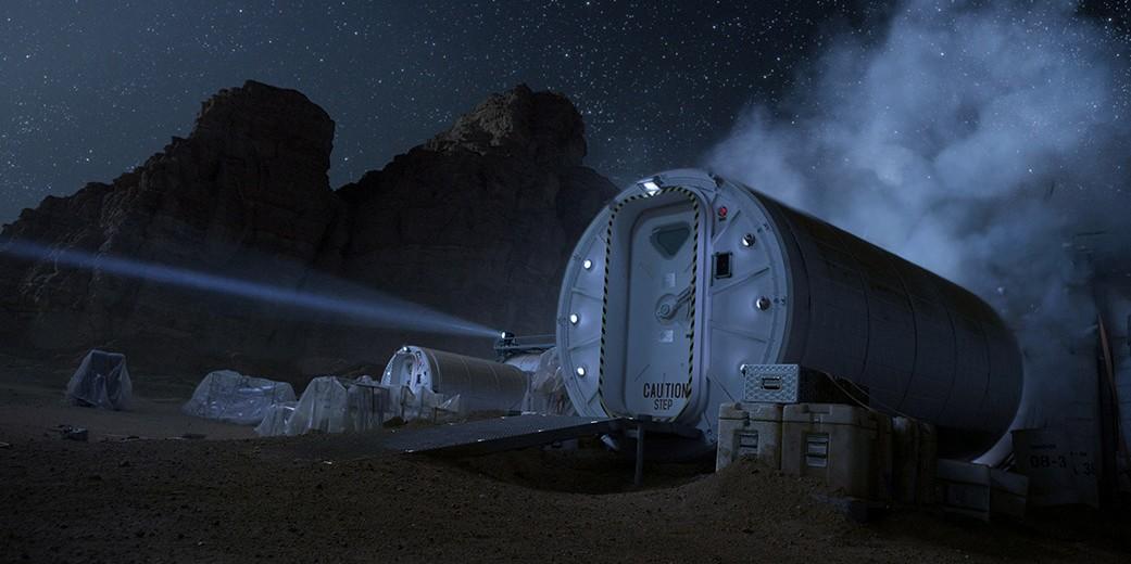 ที่อยู่อาศัยบนดาวอังคาร1