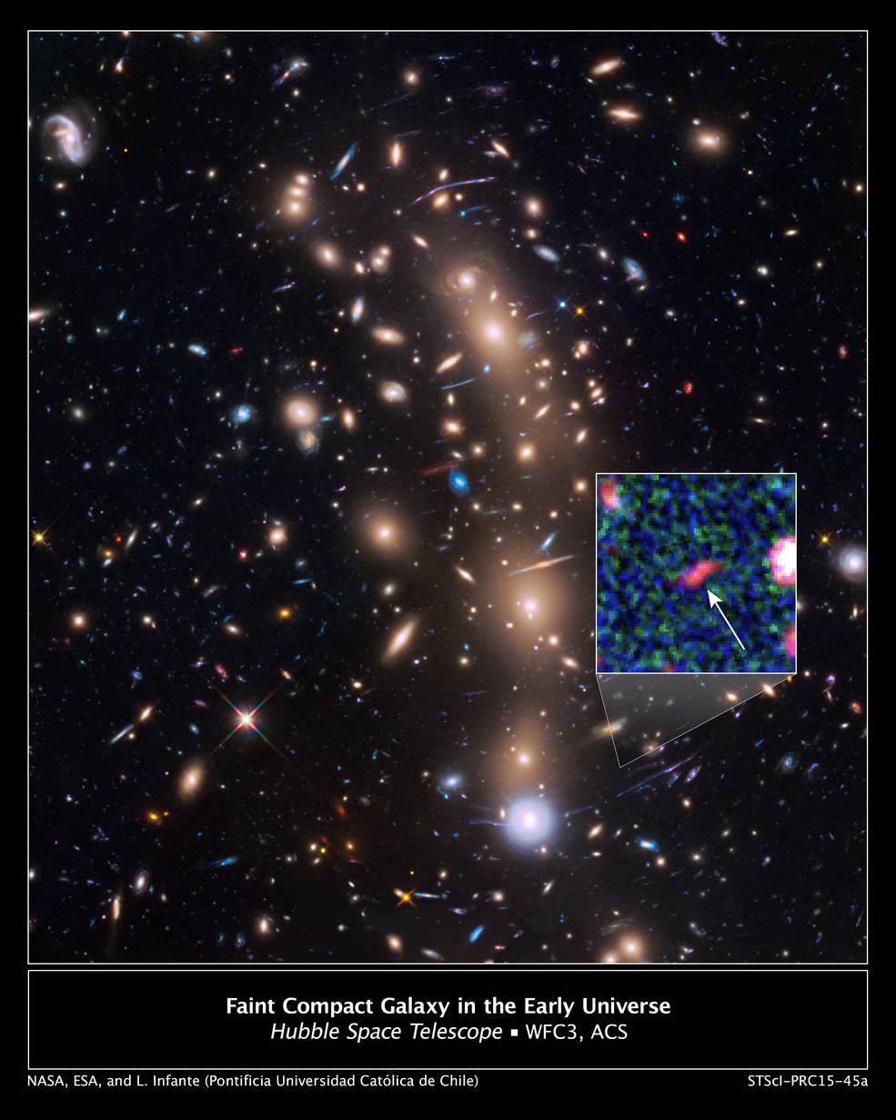 ภาพกาแล็กซียุคช่วงเอกภพเริ่มถือกำเนิด