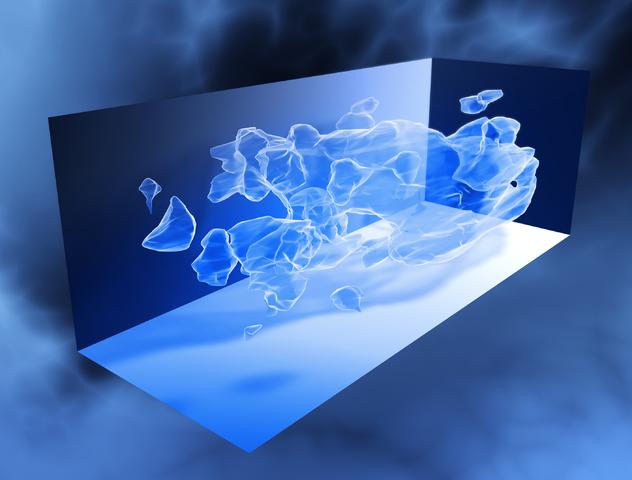 ภาพแผนที่สามมิติของสสารมืด