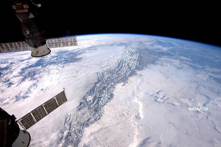 ภาพเทือกเขาร็อกกี้จากอวกาศ
