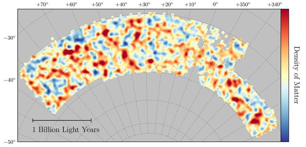 แผนที่แสดงการกระจายตัวของ Dark Matter