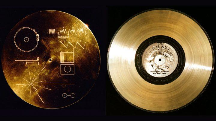 แผ่นบันทึกที่ทำจากทองคำบนยาน Voyager1