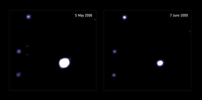 การตรวจพบหลุมดำในปี 2006 และ 2009