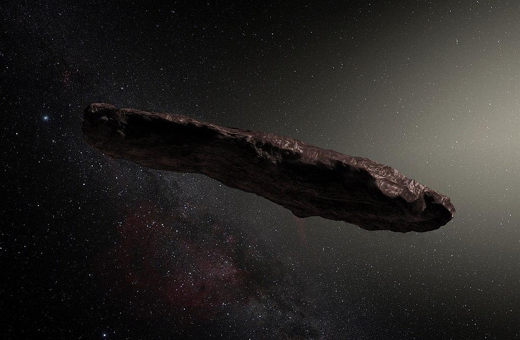 ภาพจากศิลปินจำลองรูปร่าง Oumuamua
