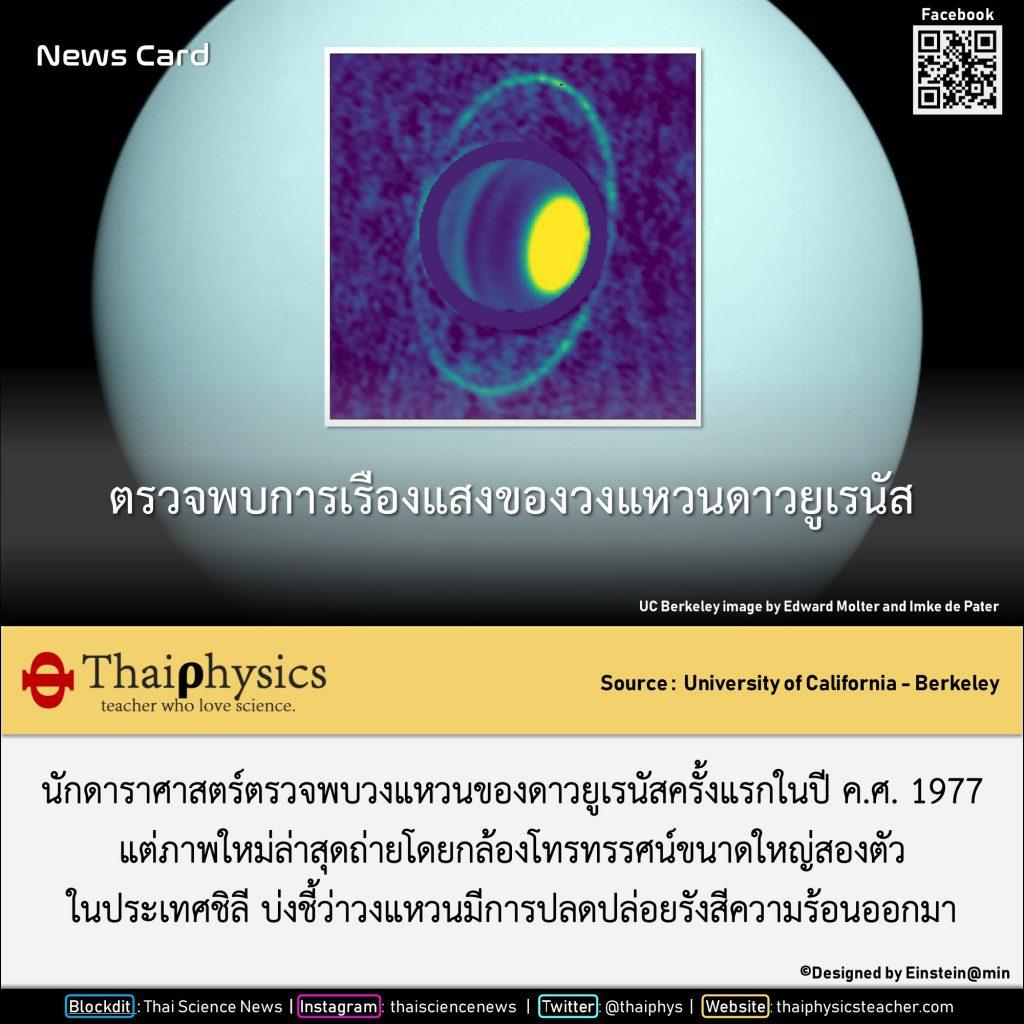 วงแหวนเรืองแสงของ Uranus