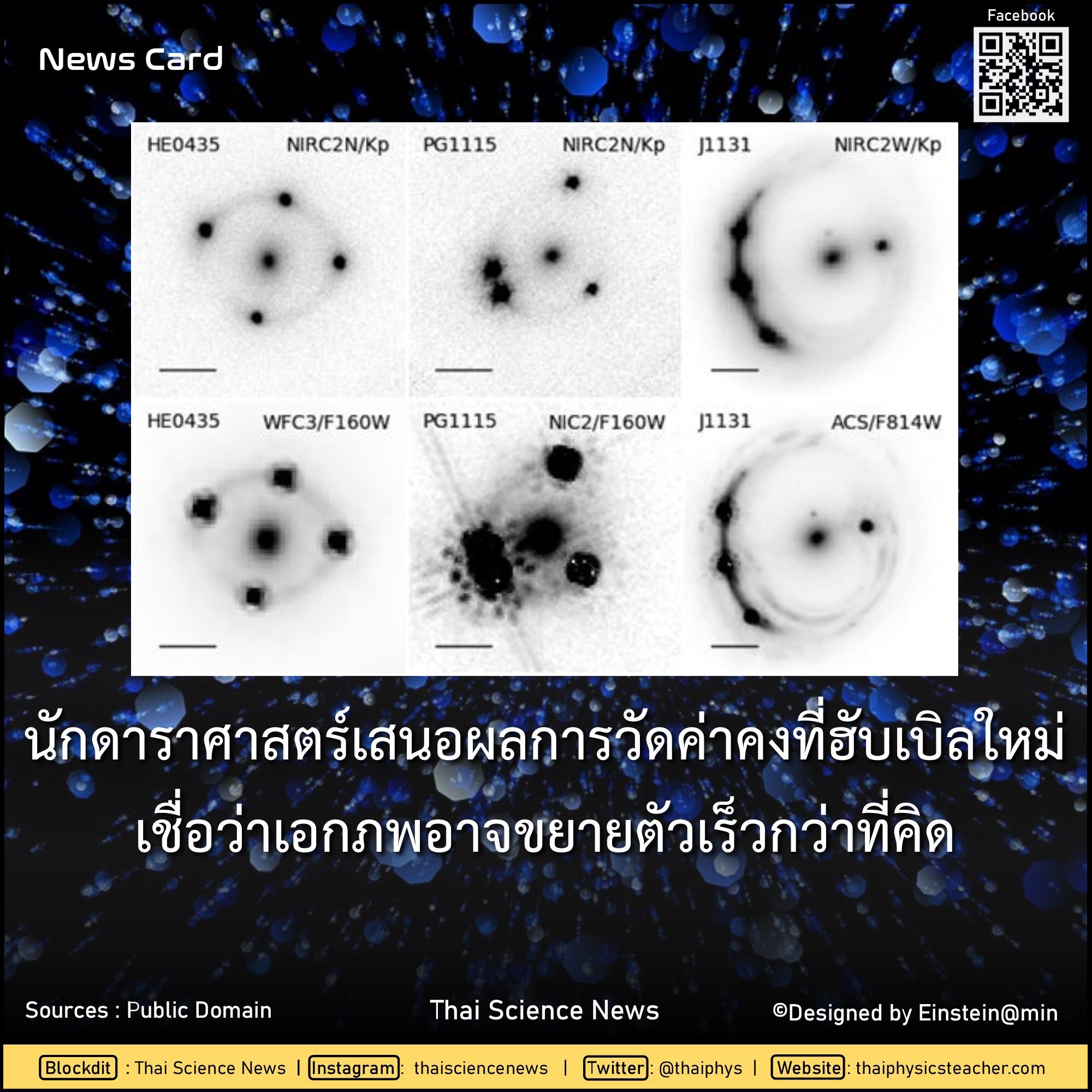 นักดาราศาสตร์เสนอค่าคงที่ฮับเบิลใหม่ เชื่อเอกภพขยายตัวเร็วกว่าที่คิด 1